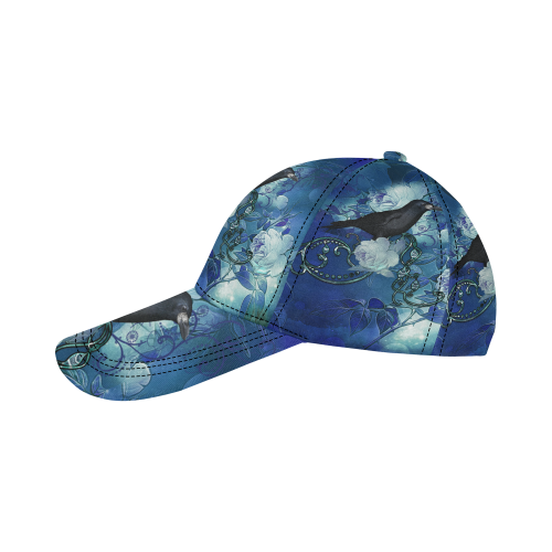 The crow with wonderful  flowers All Over Print Dad Cap C (6-Pieces Customization)