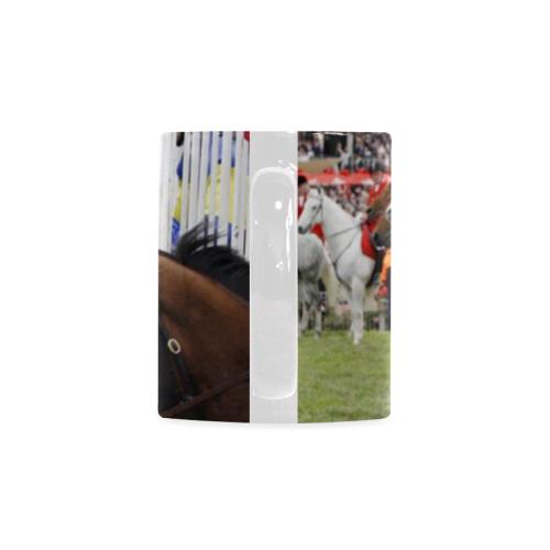 Coffee_Cup_Mug_Race_Horses Custom White Mug (11oz)