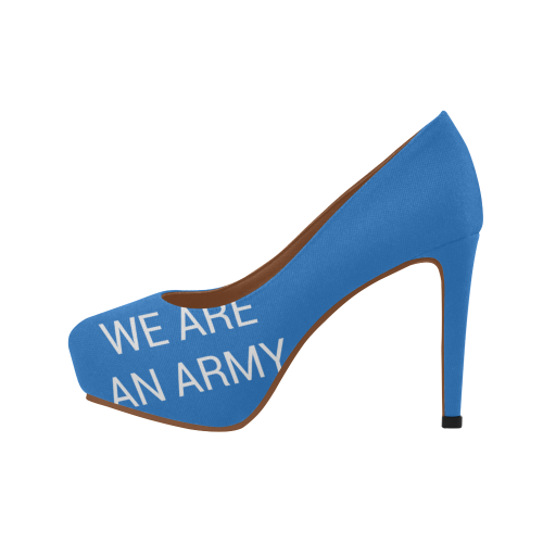 Shoes of protest ('WE ARE AN ARMY') Women's High Heels (Model 044)
