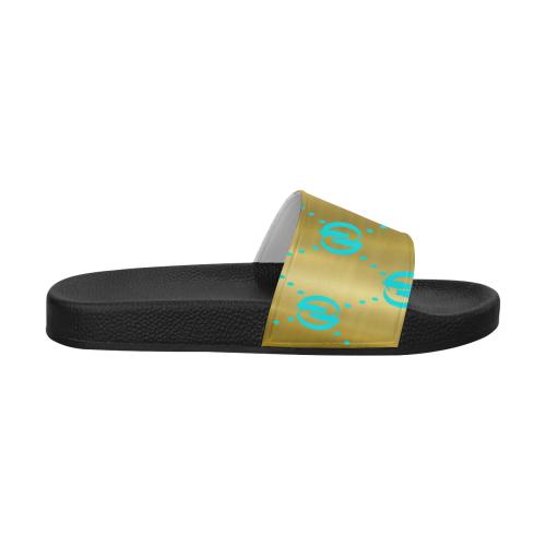 OG LCC GOLD TURQUOISE Women's Slide Sandals (Model 057)