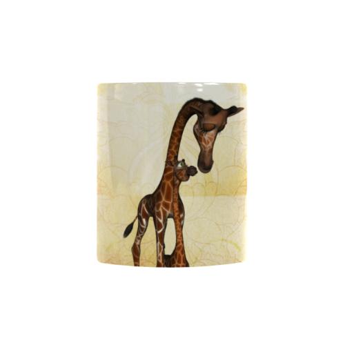 Cute giraffe mum with baby Custom Morphing Mug (11oz)