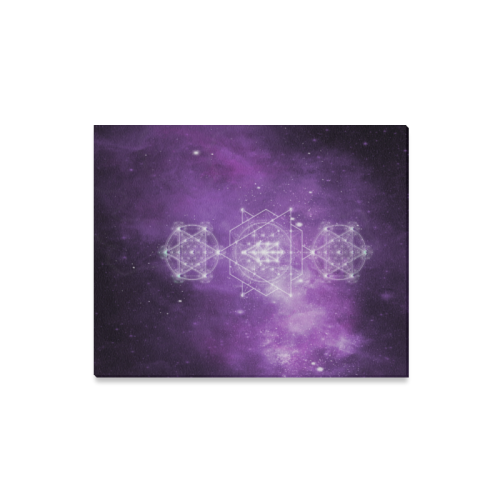 "Sacred Geometry Stardust Canvas Print 16""x20"""