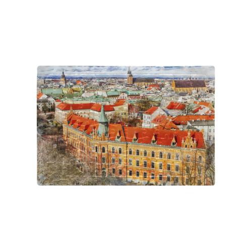 Cracow Krakow city art A4 Size Jigsaw Puzzle (Set of 80 Pieces)