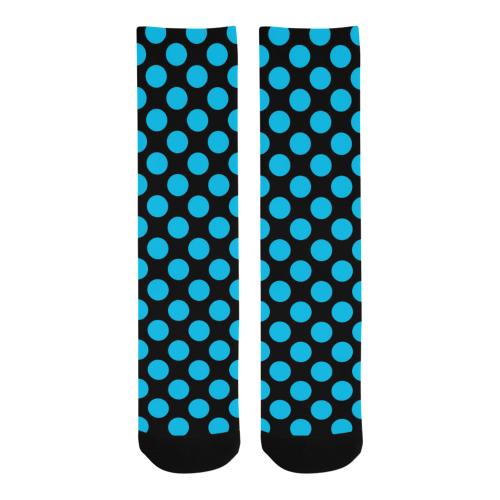 Blue Polka Dots Trouser Socks (For Men)