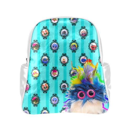 PopArt_Rhinestone Multi-Pockets Backpack (Model 1636)
