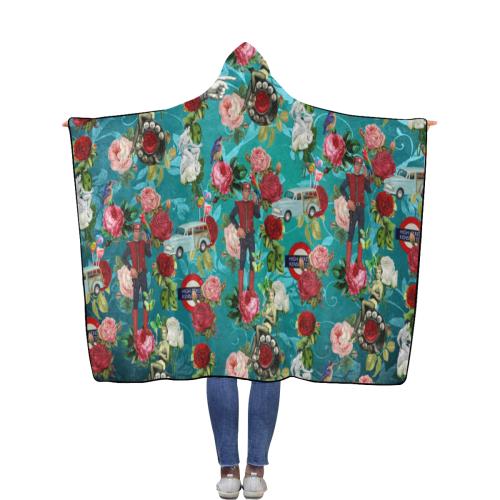 Hello Again Boys Flannel Hooded Blanket 56''x80''