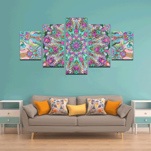mandala 4 Canvas Wall Art Z (5 pieces)