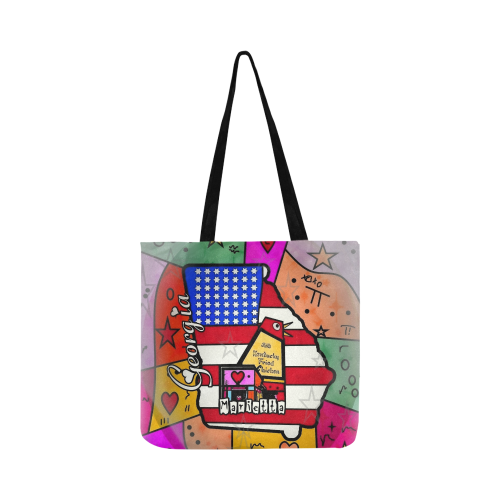 Marietta Popart by Nico Bielow Reusable Shopping Bag Model 1660 (Two sides)