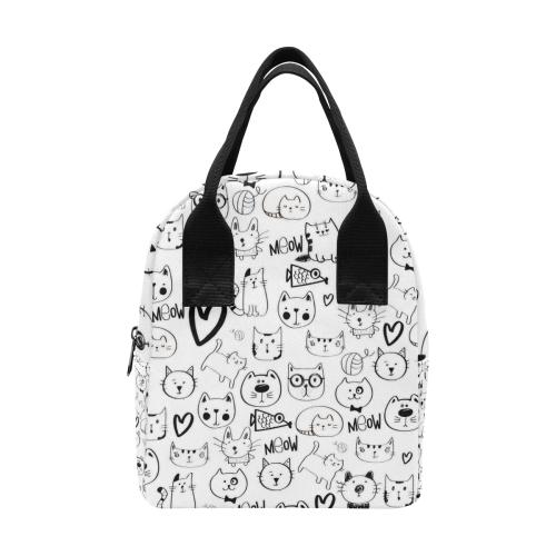 Meow Cats Zipper Lunch Bag (Model 1689)