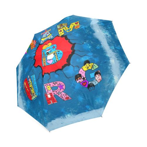 Hamburg Germany Pop Art by Nico Bielow Foldable Umbrella (Model U01)