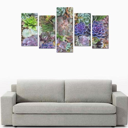 Succulent stories Canvas Print Sets E (No Frame)
