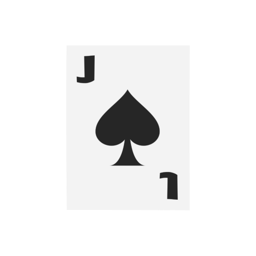 """Playing Card Jack of Spades Photo Panel for Tabletop Display 6""""x8"""""""