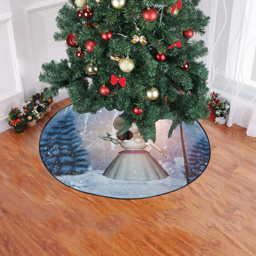 "Snow women with birds Christmas Tree Skirt 47"" x 47"""