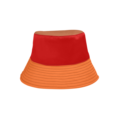 Orange, Red, Brown Hat All Over Print Bucket Hat
