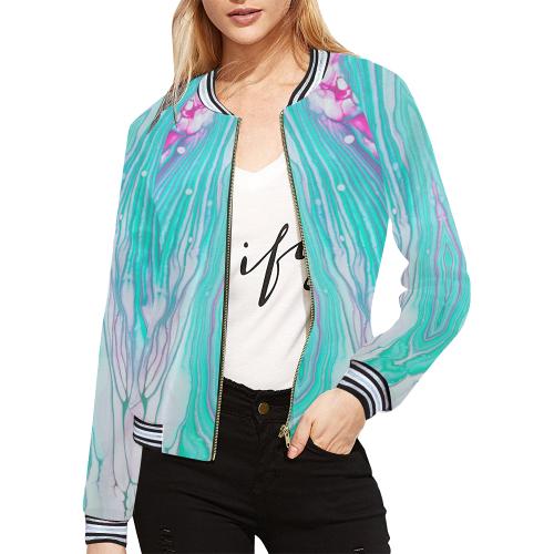 vivaldi All Over Print Bomber Jacket for Women (Model H21)