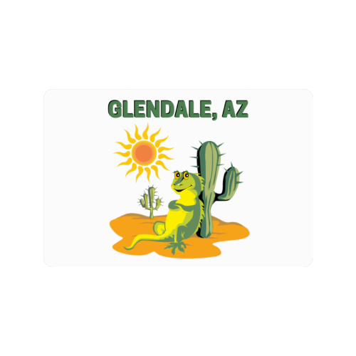 "Glendale, Arizona Doormat 24""x16"""