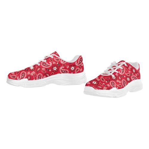 Red Lyra Men's Running Shoes/Large (Model 058)