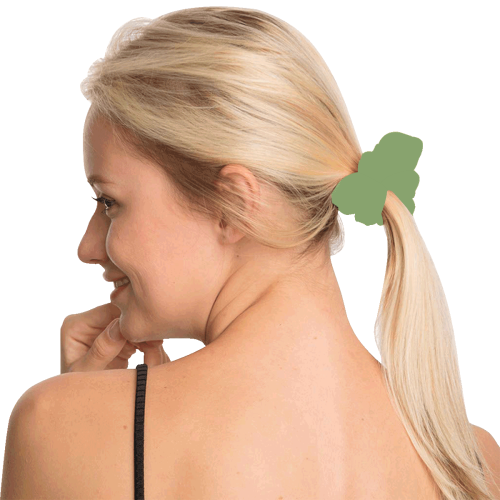 color asparagus All Over Print Hair Scrunchie