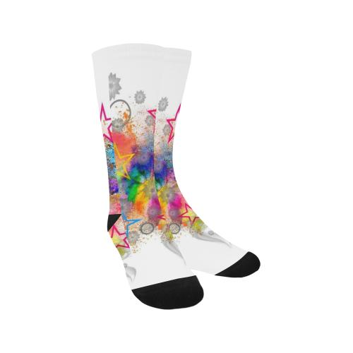Stars Popart by Nico Bielow Trouser Socks (For Men)