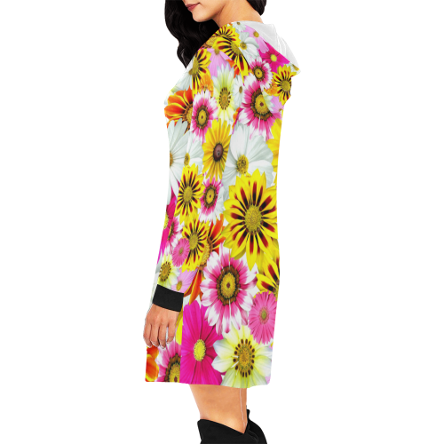 Spring Time Flowers 1 All Over Print Hoodie Mini Dress (Model H27)
