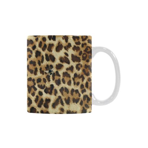Buzz Leopard Custom White Mug (11OZ)