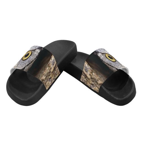 OWL IN HOLE Men's Slide Sandals (Model 057)