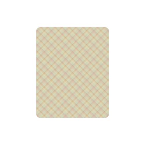 Pastel Yellow Orange Crisscross Stripes Rectangle Mousepad