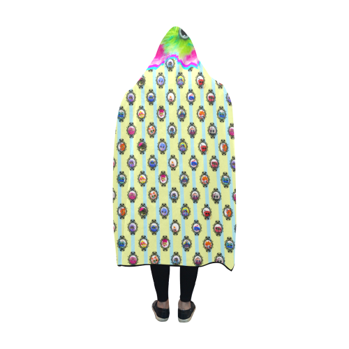 PopArt Salty BangBang on Stripes Hooded Blanket 60''x50''