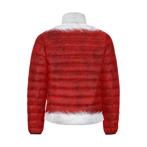 Santa by Nico Bielow Men's Stand Collar Padded Jacket (Model H41)