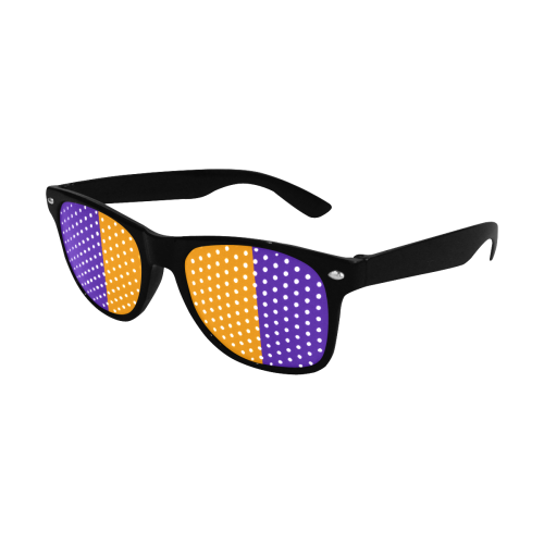 Only Two Colors: Orange - Violet Lilac Custom Goggles (Perforated Lenses)