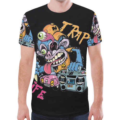 TRAP LIFE New All Over Print T-shirt for Men (Model T45)