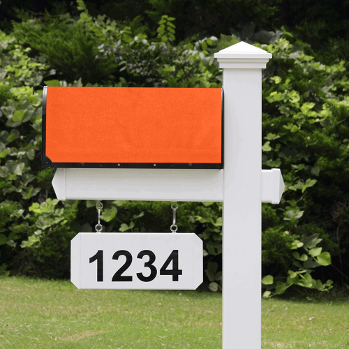 color orange red Mailbox Cover