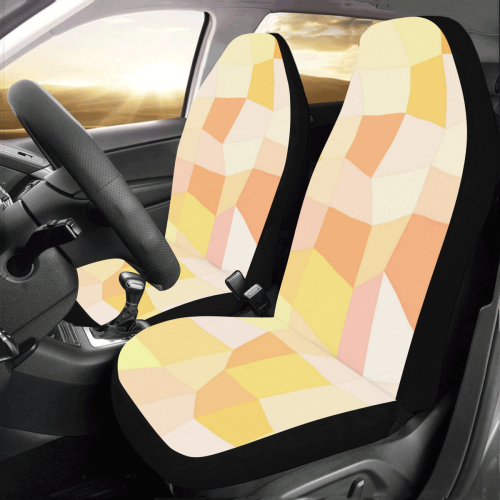 Yellow Gold Mosaic Car Seat Covers (Set of 2)