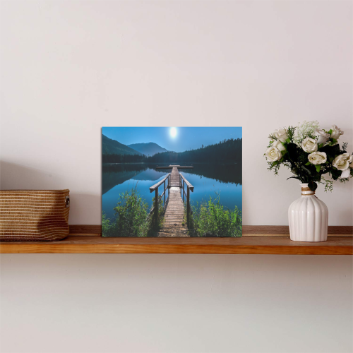 """Mountain Dock View Photo Panel for Tabletop Display 8""""x6"""""""