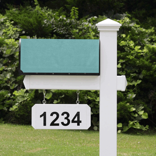color cadet blue Mailbox Cover