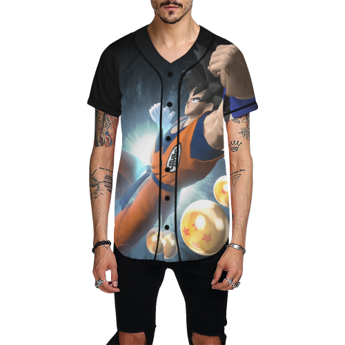 Power Ki Goku All Over Print Baseball Jersey for Men (Model T50)