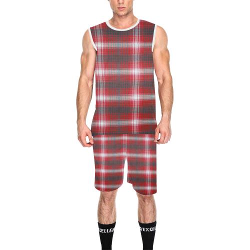 PLAID-322 All Over Print Basketball Uniform