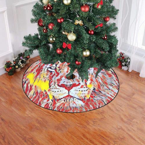 "Lion of Judah Christmas Tree Skirt 47"" x 47"""