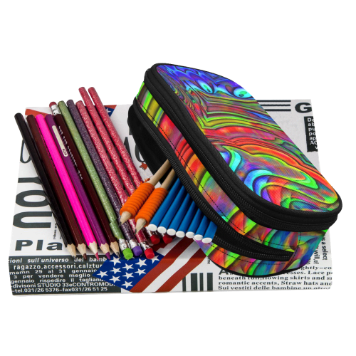 Hot hot Summer 7B by JamColors Pencil Pouch/Large (Model 1680)
