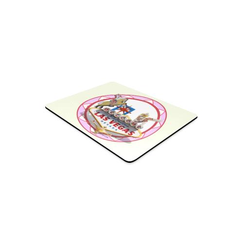 LasVegasIcons Pink Poker Chip Rectangle Mousepad