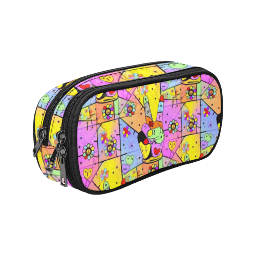 Peace by Nico Bielow Pencil Pouch/Large (Model 1680)