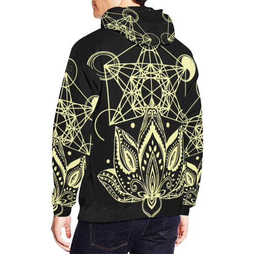 Lotus Metatron NEW All Over Print Hoodie for Men/Large Size (USA Size) (Model H13)