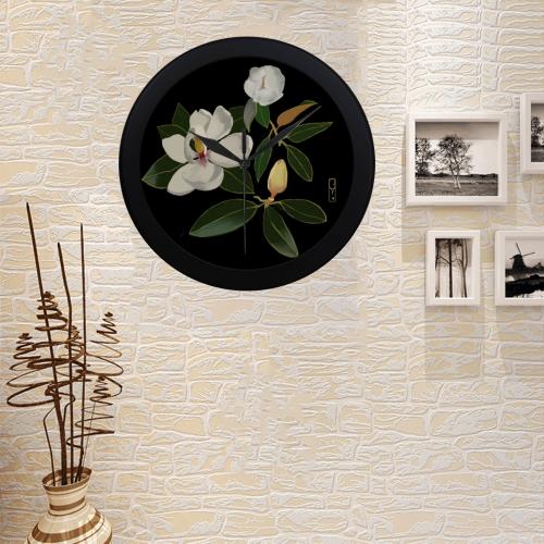 Magnolia Clock Circular Plastic Wall clock
