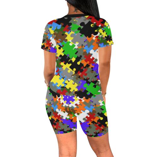 Puzzle Fun 2 Women's Short Yoga Set (Sets 03)