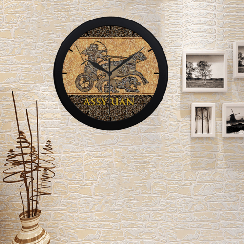 Assyrian Warriors Circular Plastic Wall clock
