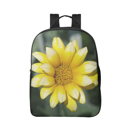Yellow Flower, floral photo Popular Fabric Backpack (Model 1683)
