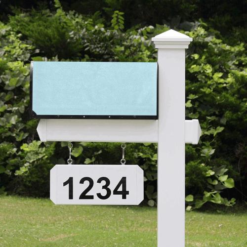 color light blue Mailbox Cover