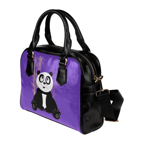 Panda Girl - Pink Shoulder Handbag (Model 1634)