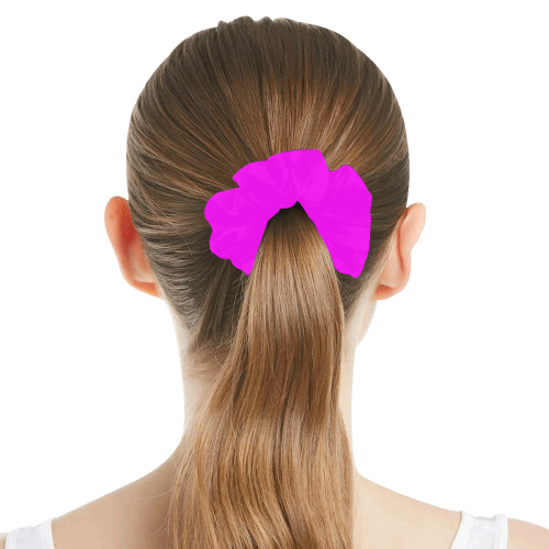 color fuchsia / magenta All Over Print Hair Scrunchie