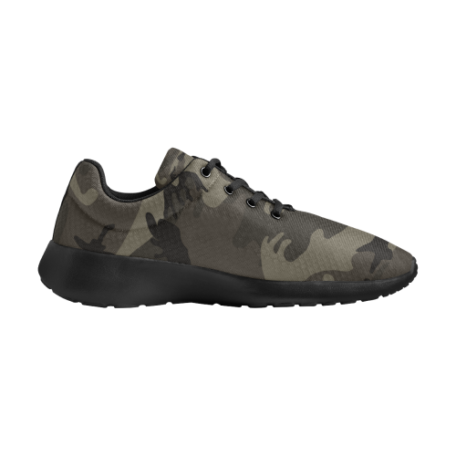Camo Grey Men's Athletic Shoes (Model 0200)